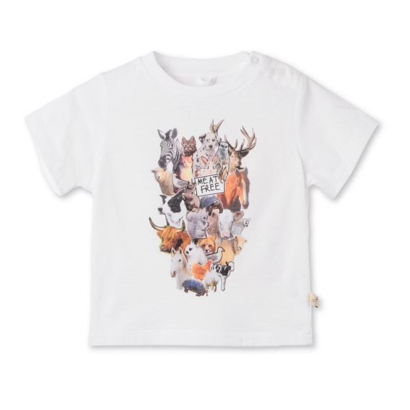 Βρεφική Κοντομάνικη Μπλούζα Animals