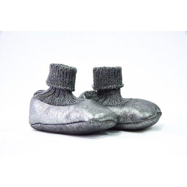 Βρεφικά Χειροποίητα Παπούτσια Αγκαλιάς Argento