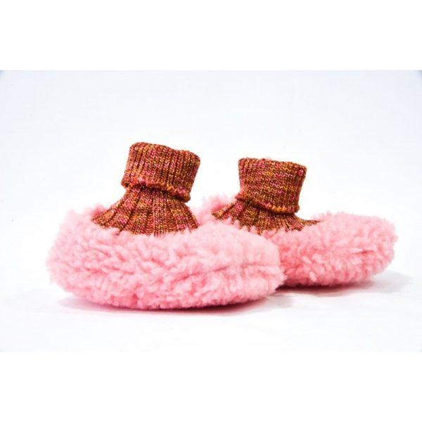 Βρεφικά Χειροποίητα Παπούτσια Αγκαλιάς Rosa