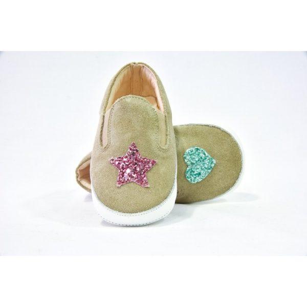 Βρεφικά Χειροποίητα Παπούτσια Αγκαλιάς Sabbia