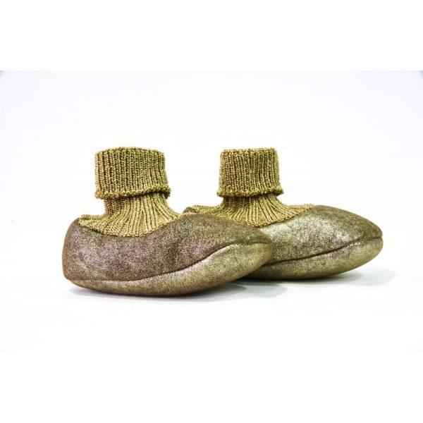 Βρεφικά Χειροποίητα Παπούτσια Αγκαλιάς Platino