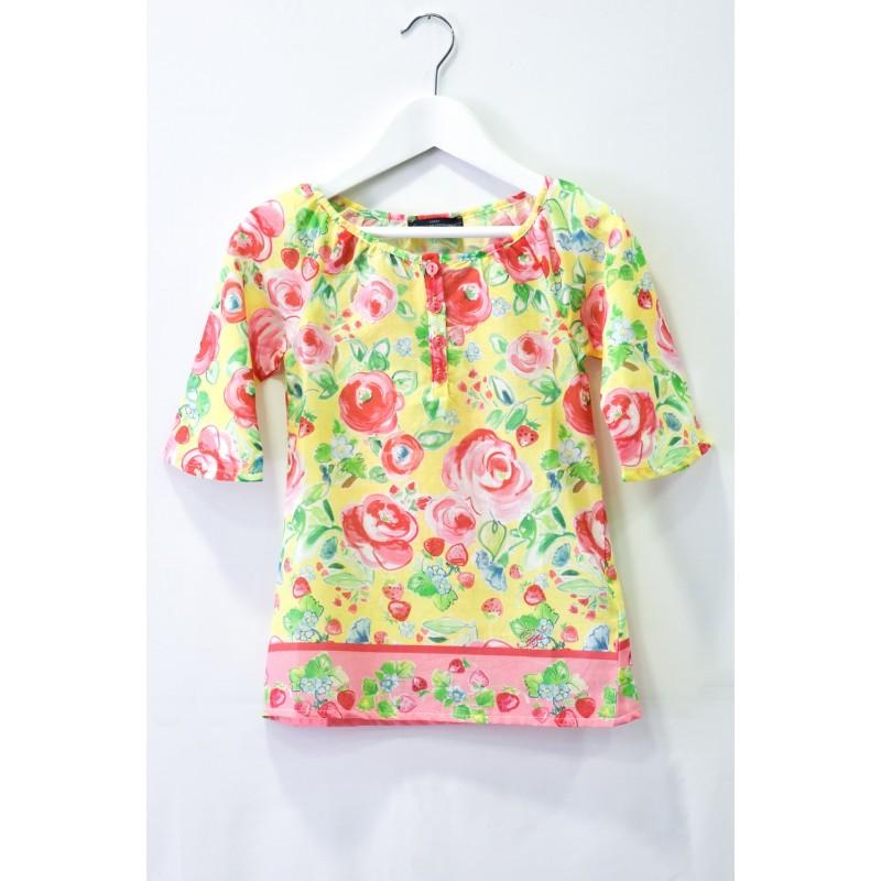 Παιδική Μπλούζα Τουνίκ Με Λουλούδια