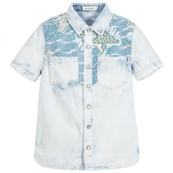 Boys pale blue denim shirt