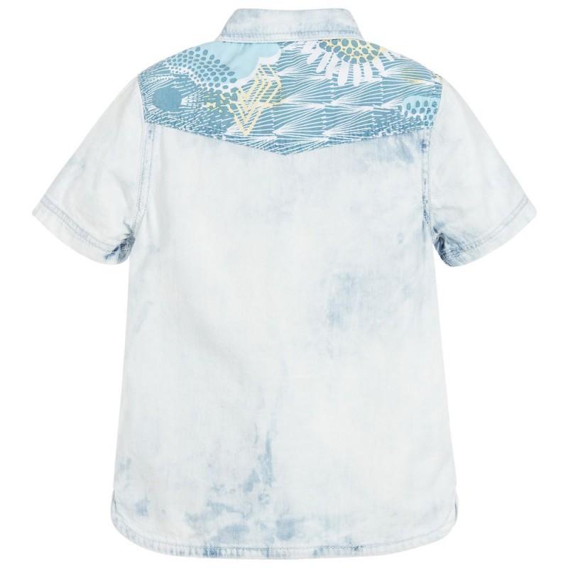 Boys pale blue denim shirt
