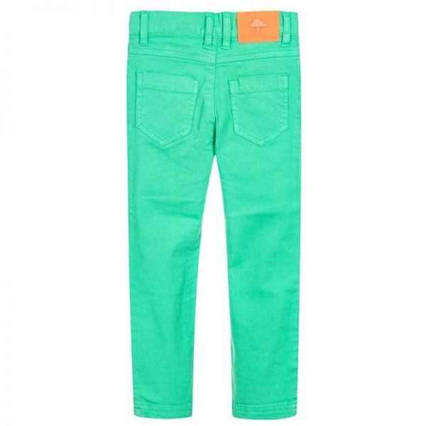 Boys green slim fit geans