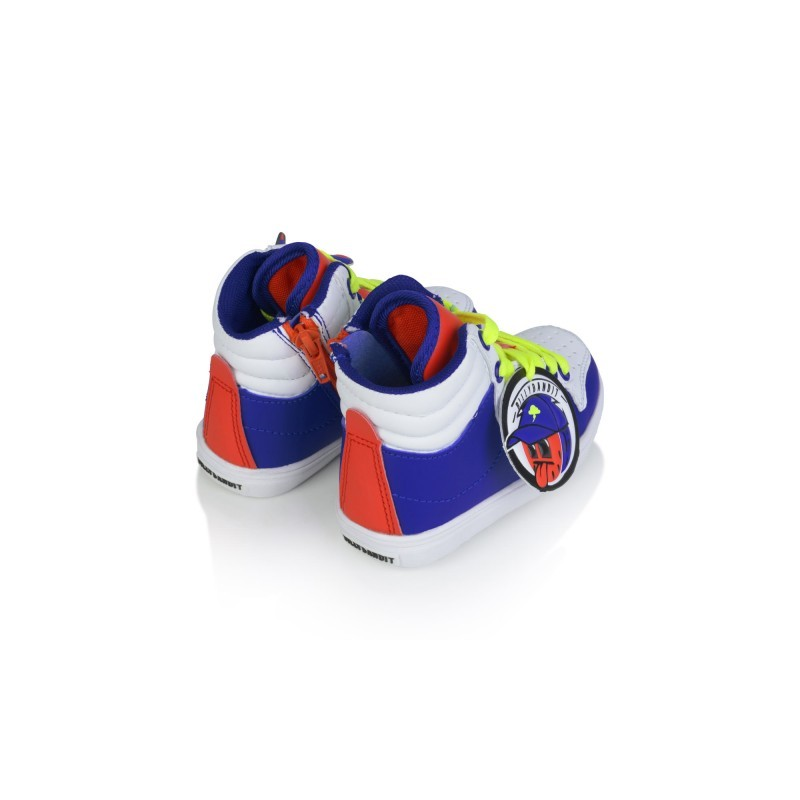 Boys blue & white hight top trainers