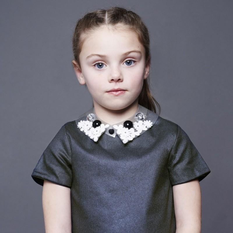 Παιδικό Φόρεμα Με Αποσπόμενο Γιακά