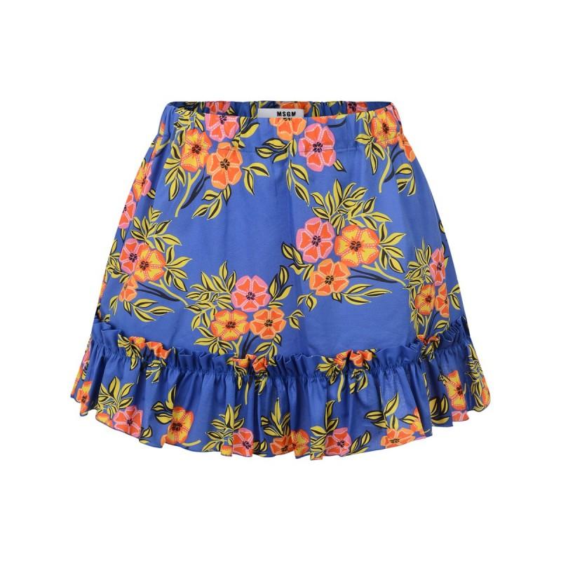 Girls blue floral shirt