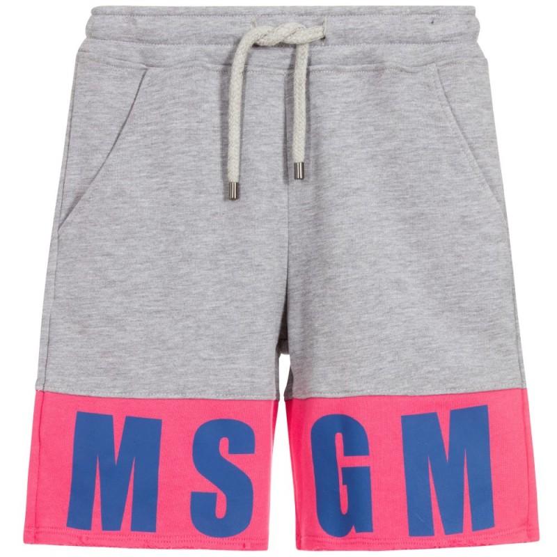 Girls grey and pink bermuda
