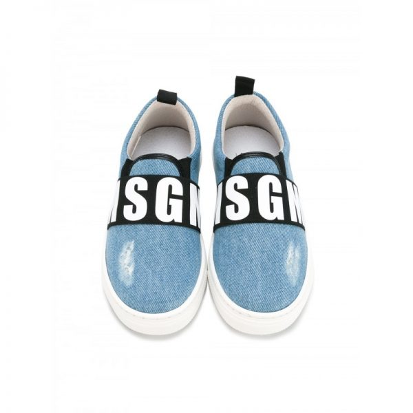 Denim slip-on sneakers