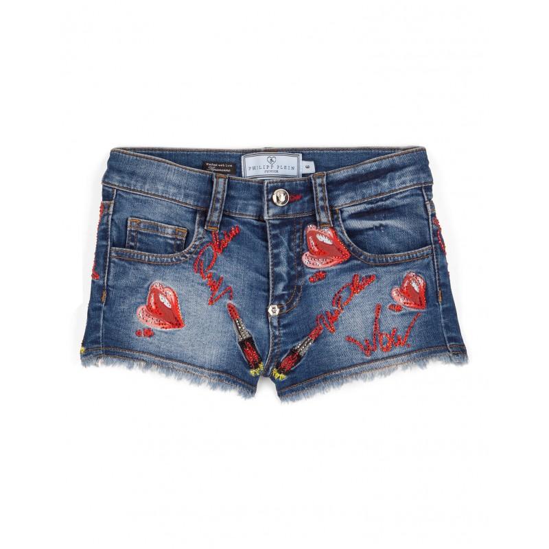 Denim shorts ''Kiss Roses''