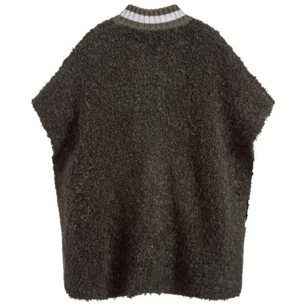 Freya Green Knitted Cape