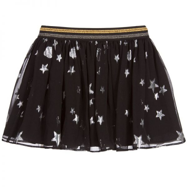 Girls Black Silk Skirt