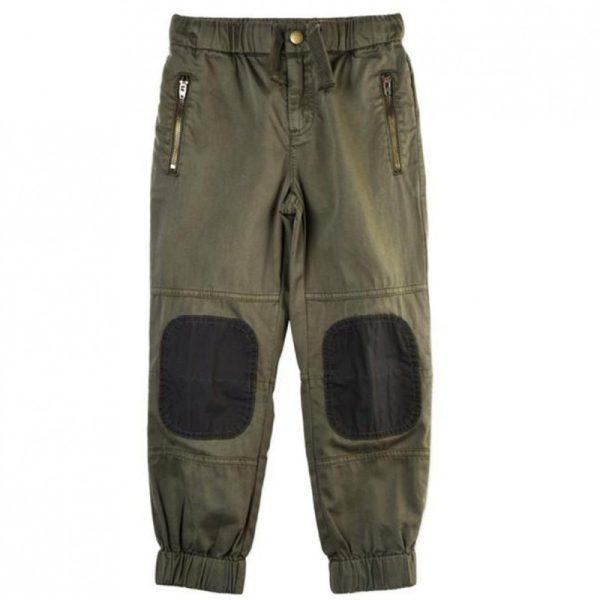 Παντελόνι με λάστιχο στο τελείωμα χακί για αγόρι
