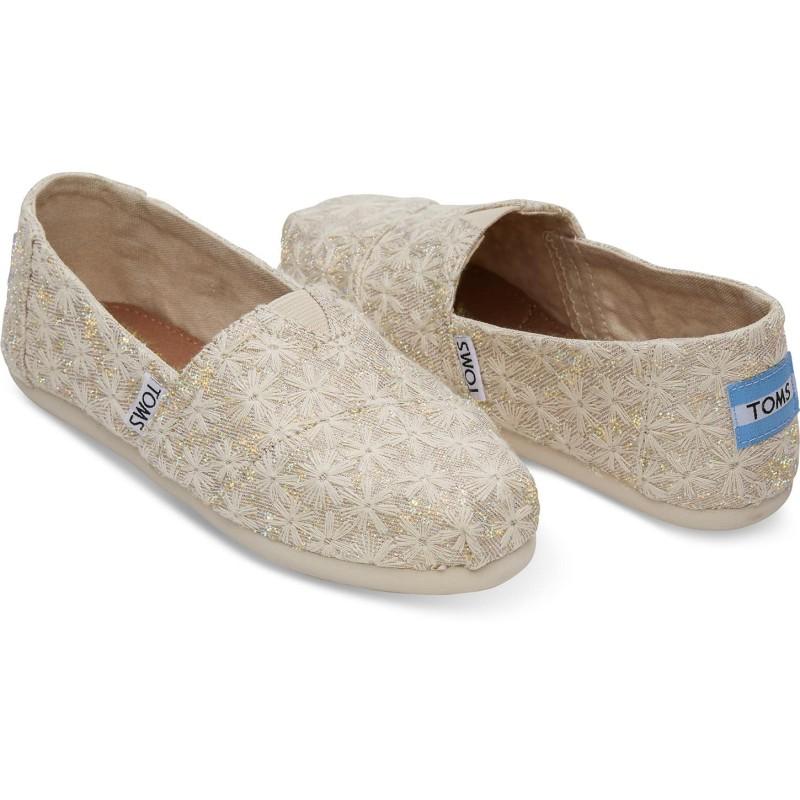 Παιδικό Παπούτσι Toms Natural Daisy Metallic
