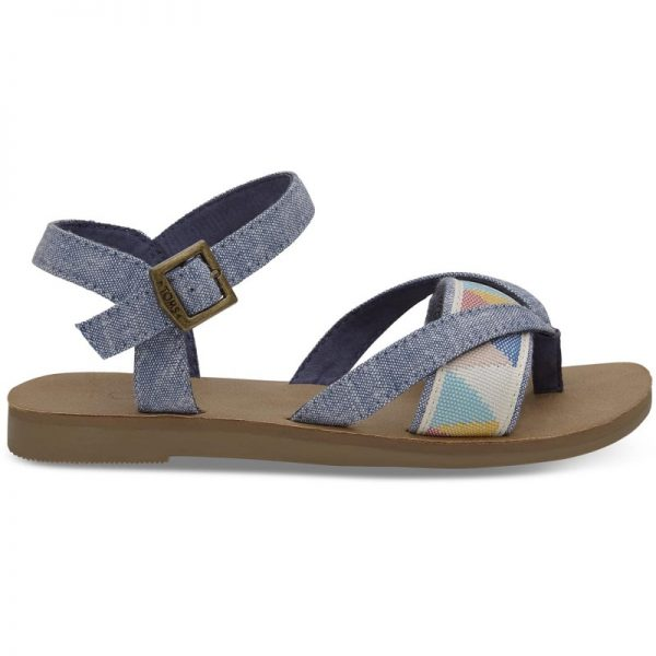 Πέδιλα Toms Blue Slub Chambray