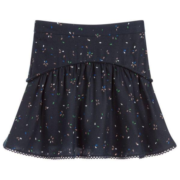 Παιδική Μπλε Φούστα Με Σχέδια