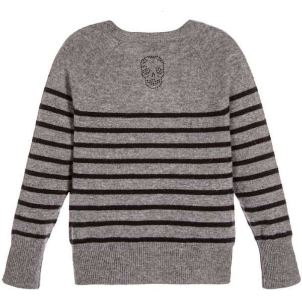 Girls Grey Wool Sweater