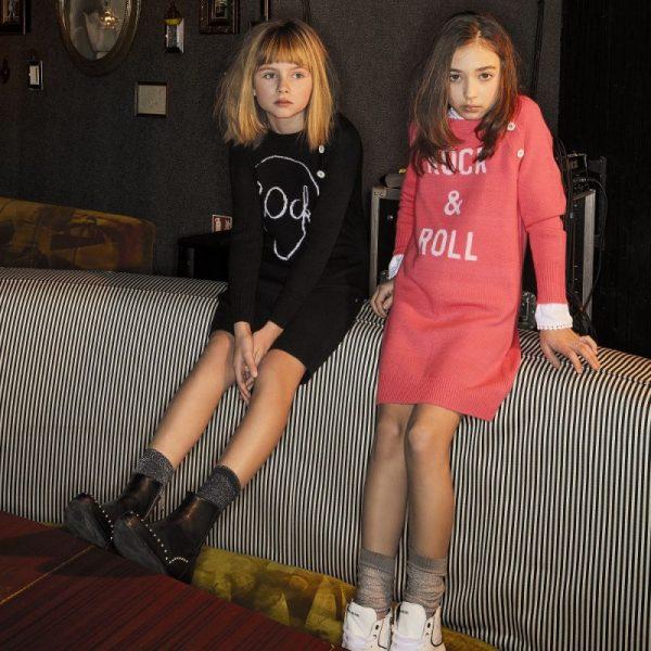 Παιδικό Μαύρο Κασμιρένιο Φόρεμα ''Rock''