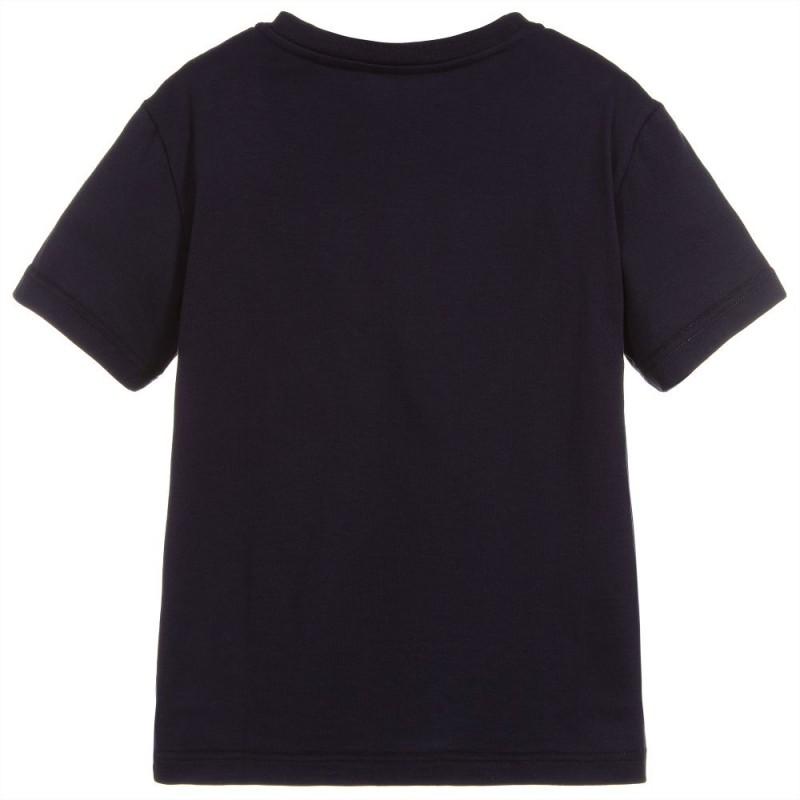 Παιδική Μπλε Κοντομάνικη Μπλούζα Με Logo