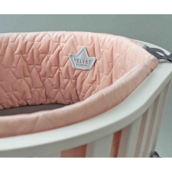 Βρεφικό προστατευτικό κούνιας ''Velvet Powder Pink''