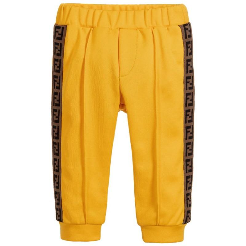 Βρεφικό κίτρινο παντελόνι φόρμας