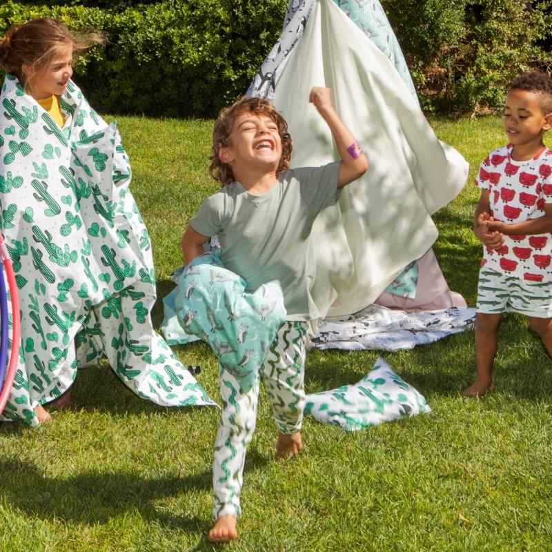 Παιδικό βαμβακερό παντελόνι με λάστιχο Shaking Snaking