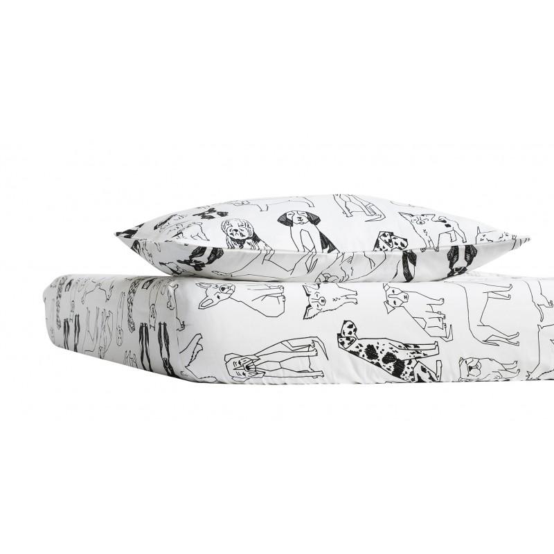 Βρεφικό βαμβακερό σεντόνι Floofy Town με θήκη για μαξιλάρι (70-140cm)