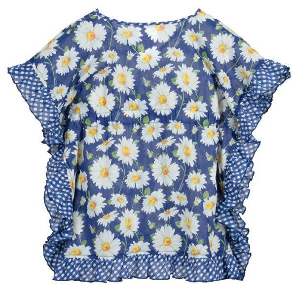 Παιδικό μπλε παρεό με λουλούδια