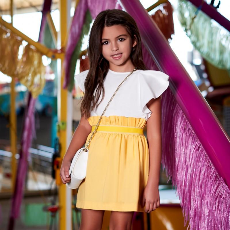 Παιδική κίτρινονη φούστα με λάστιχο