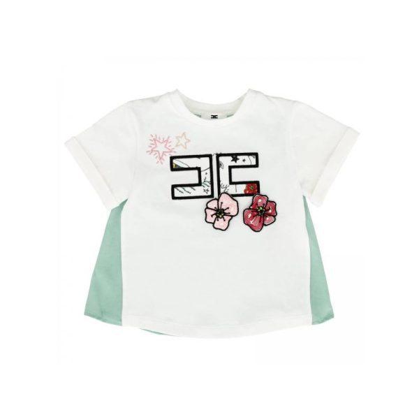 Βρεφική κοντομάνικη μπλούζα με logo
