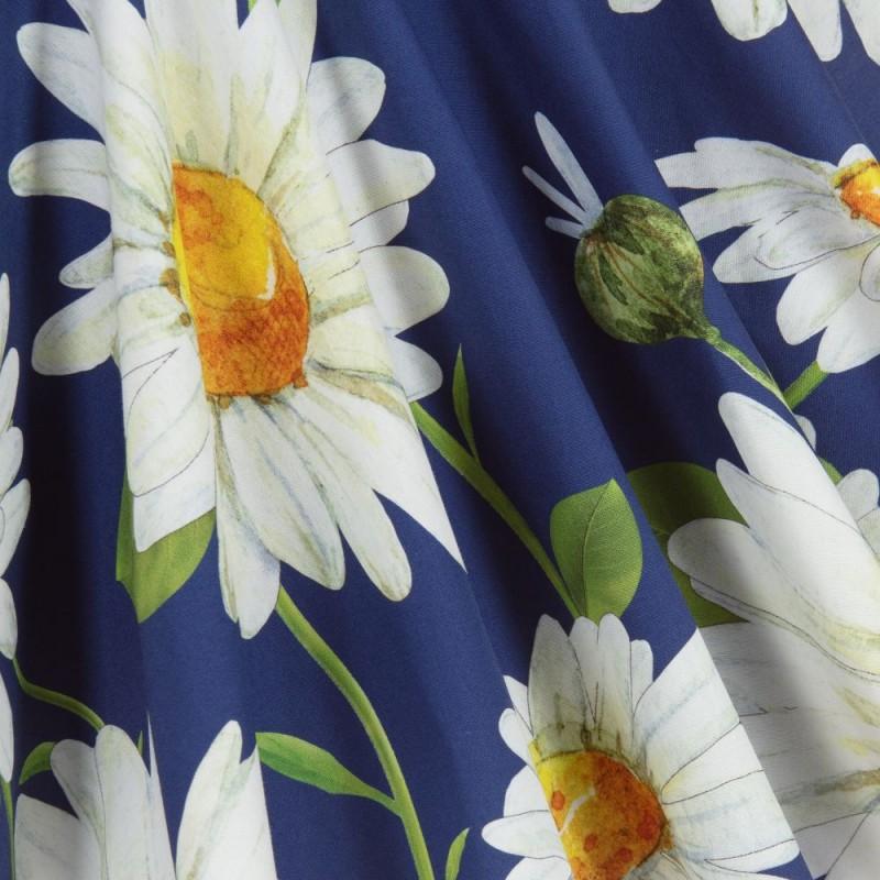 Παιδικό μπλε φόρεμα με λουλούδια