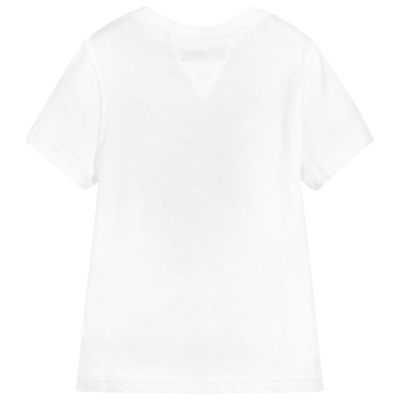 Κοντομάνικη βαμβακερή μπλούζα με logo