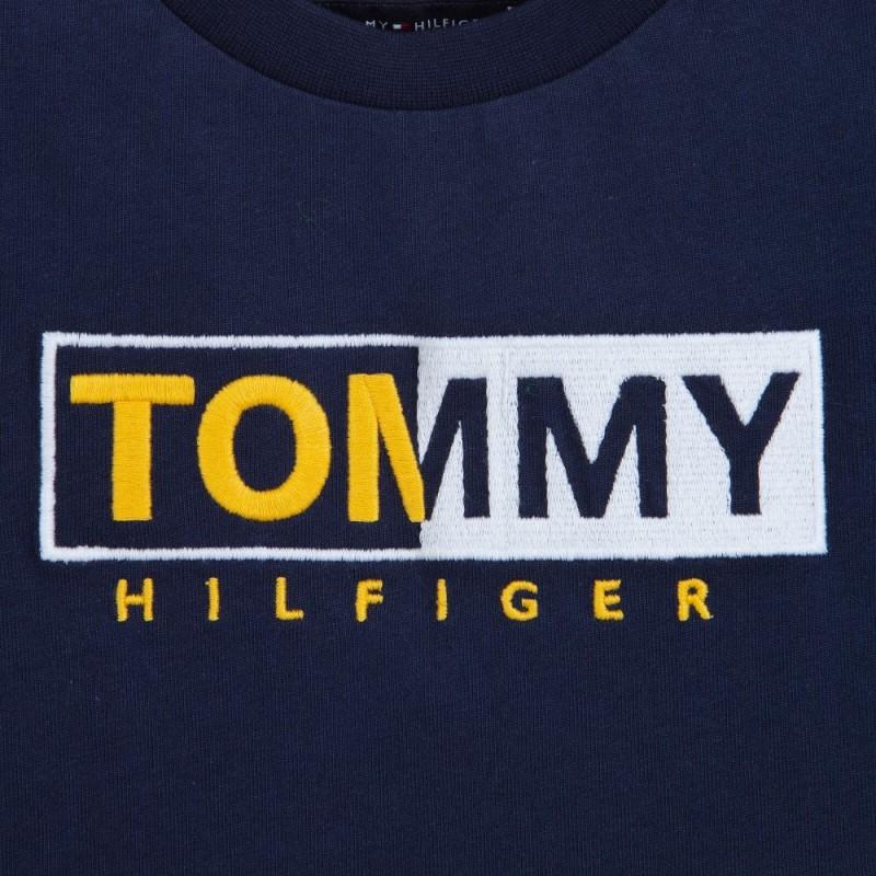 Μπλε κοντομάνικη μπλούζα με logo