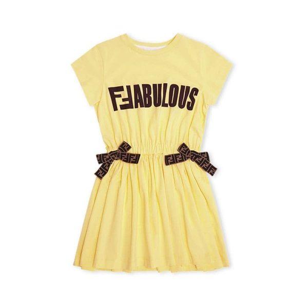 Παιδικό Φόρεμε Κίτρινο FENDI
