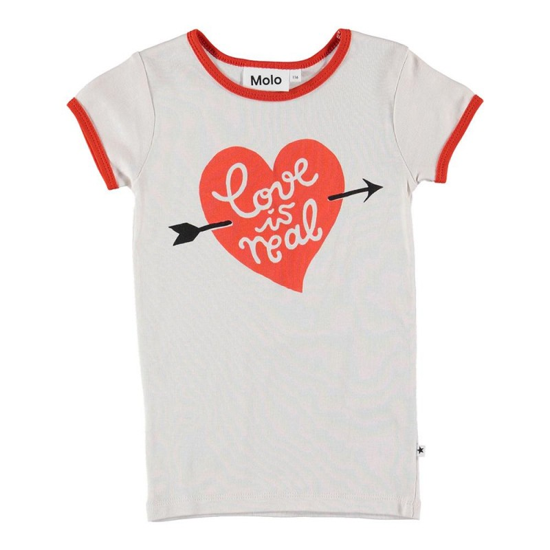Παιδική κοντομάνικη μπλούζα καρδια MOLO