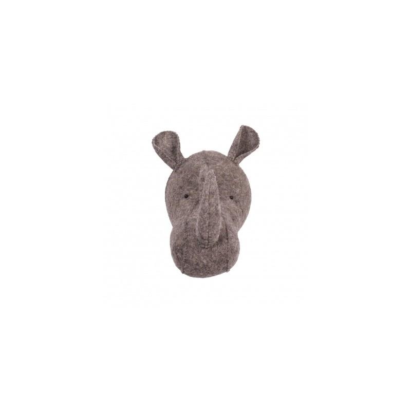 Κεφαλι ρινοκερος καφε KIDS DEPOT