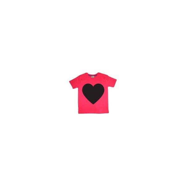 Παιδικη μπλουζα με κιμωλια ροζ καρδια LITTLE MASHERS