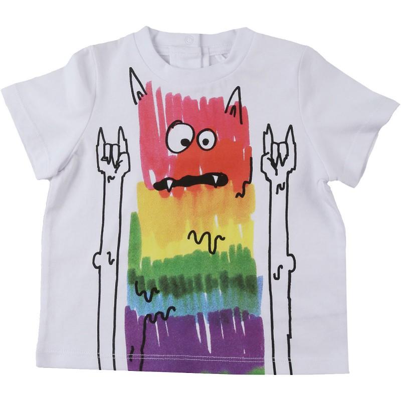Βρεφικο μπλουζακι πολυχρωμο τερατακι STELLA MC CARTNEY
