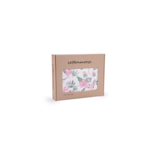 Βρεφικη κουβερτουλα λουλουδια COTTONMOOSE