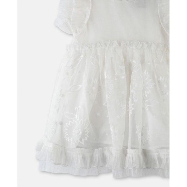 Βρεφικο φορεμα οργαντζα λουλουδια STELLA MC CARTNEY