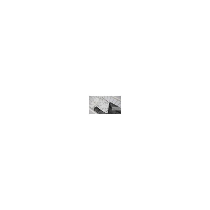 Βρεφικη κουβερτουλα 75*100 γκρι σκουρο +κυκνος TINY STAR