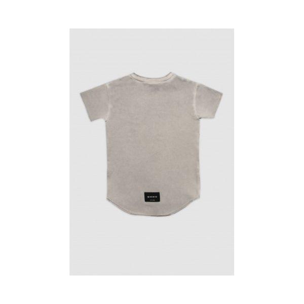 Κοντομανικη μακο μπλουζα με ριγες