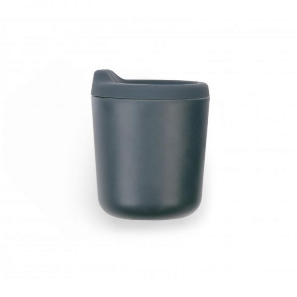 EKOBO - Bamboo βρεφικό ποτηράκι με καπάκι σιλικόνης γκρί σκούρο