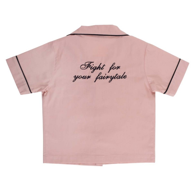 Παιδικη πυζαμα ανδρικου τυπου ροζ BIG LITTLE ONES