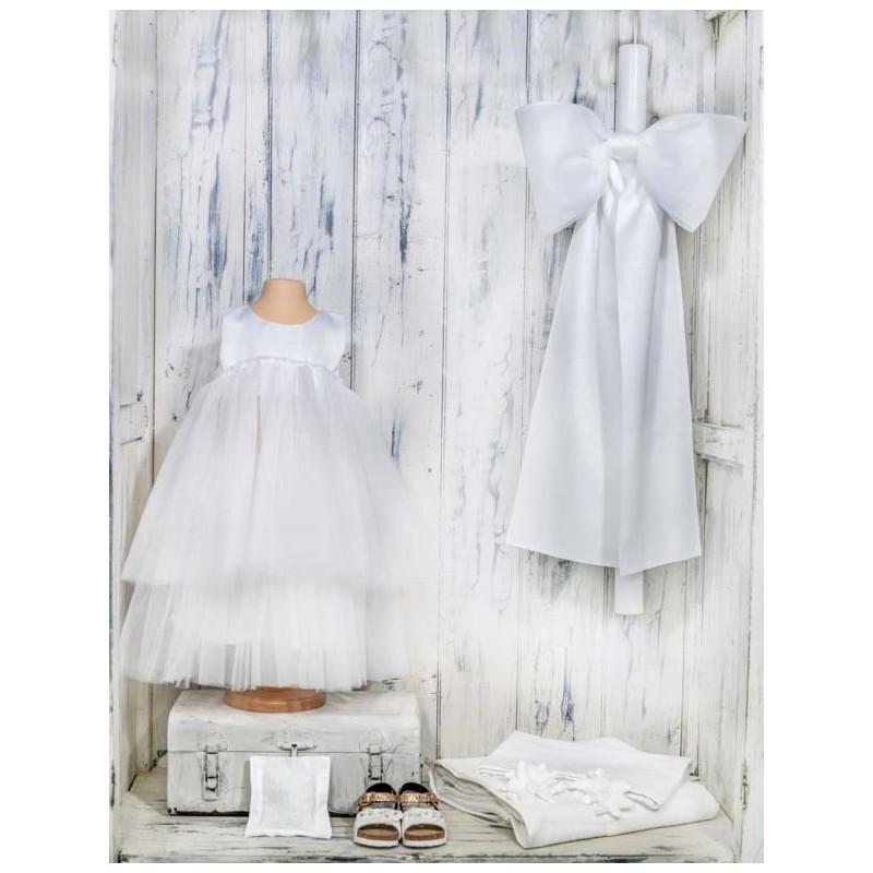 Βαπτιστικό τούλινο φόρεμα - NATURA