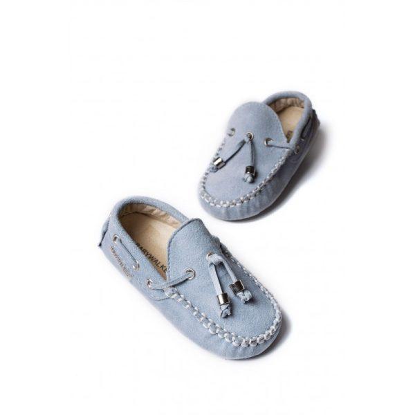 Βρεφικά παπούτσια καστόρινα μοκασίνια δετό - BABYWALKER