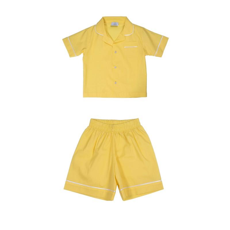 Παιδικη πυζαμα ανδρικου τυπου κιτρινη BIG LITTLE ONES
