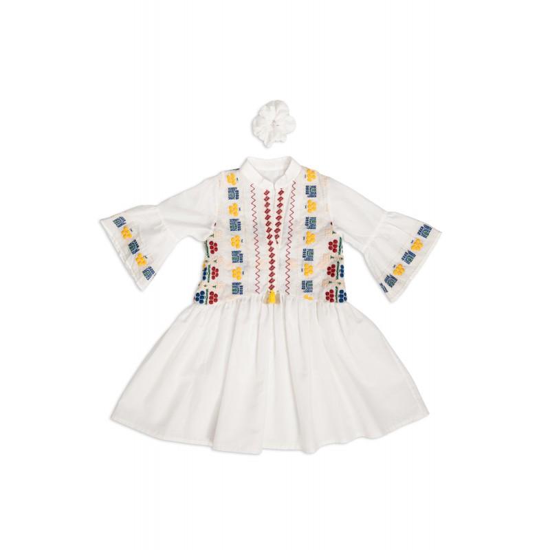 Φόρεμα μάο με υφαντό - ELLI P KIDS