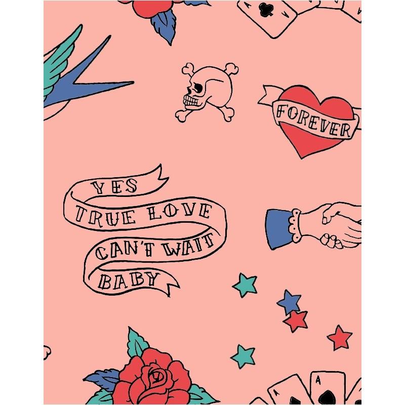 Παιδικό Σακίδιο Πλάτης Ροζ με Τατουαζ